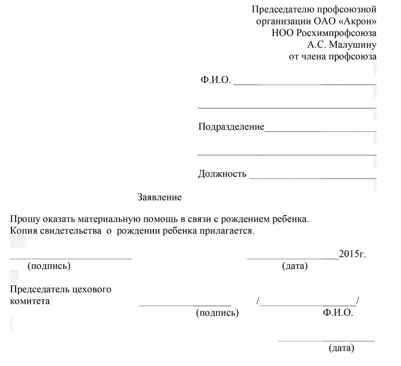 Письмо спонсору об оказании материальной помощи